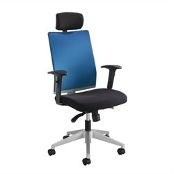 Safco Tez™ Manager Chair with Headrest in Calypso