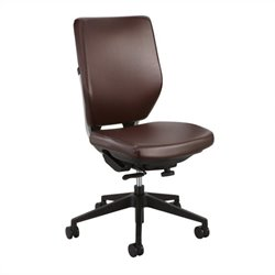 Task Office Chair in Brown Vinyl