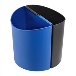 Safco Small Desk-Side Receptacle in Black & Blue