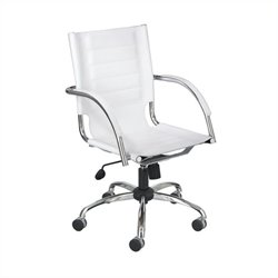 Safco Flaunt Managers Chair White Leather in White