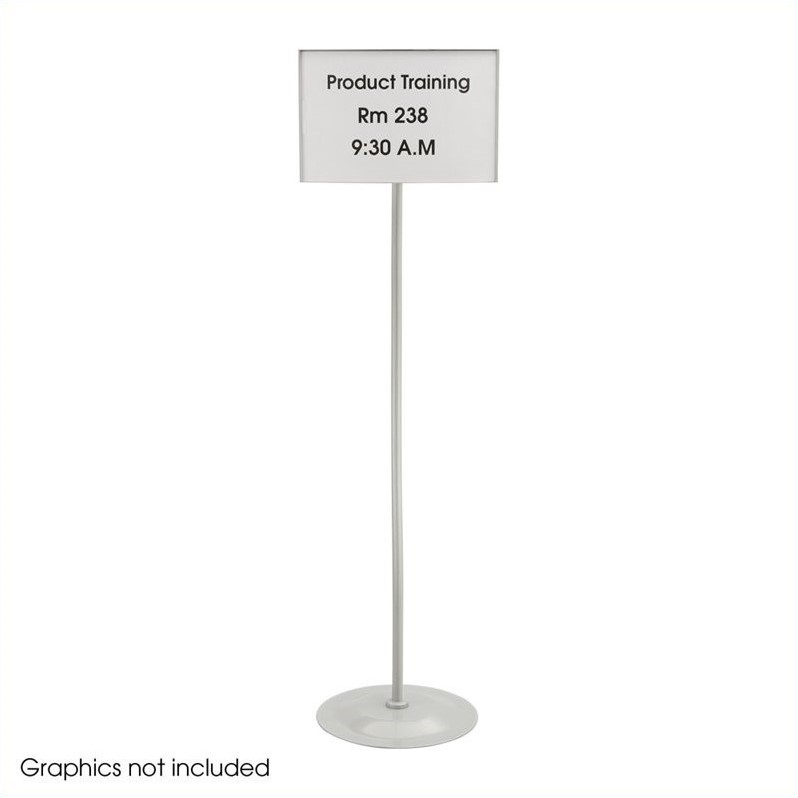 Safco Customizable Rectangular Sign in Gray