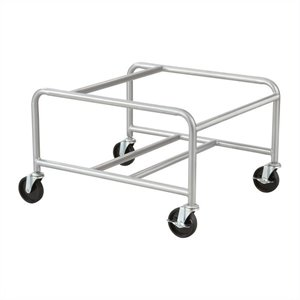 Sled Base Stack Chair Cart in Silver