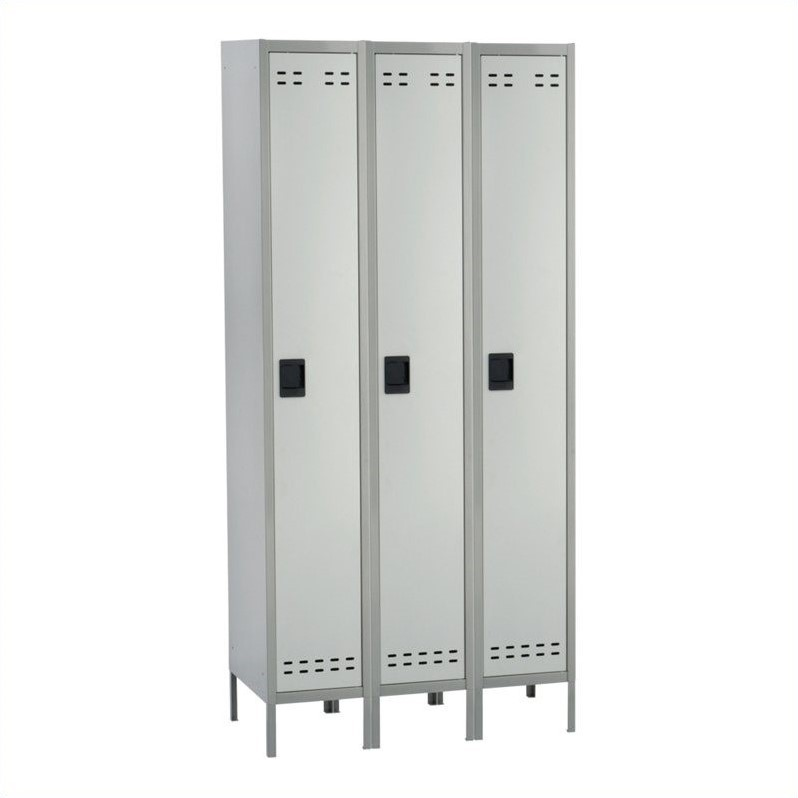 Safco Single Tier Locker 3 Column in Gray