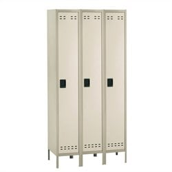 Safco Single Tier Locker 3 Column in Tan