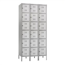 Safco Box Locker 3 Column in Gray