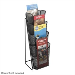 Safco Onyx Mesh 4 Pocket Pamphlet Display