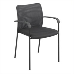 Safco Vue Mesh Guest Chair in Black (Set of 2)