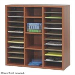 Modular Storage Literature Organizer in Cherry