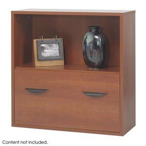 Safco Apres Modular Storage Shelf with Lower in Cherry