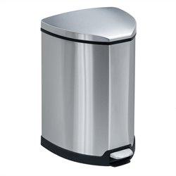 Safco Stainless Step-On 4 Gallon Receptacle in Stainless Steel