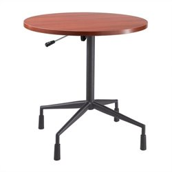 Safco RSVP 29.5 Pneumatic Base and 30x30x1 Top in Black and Cherry
