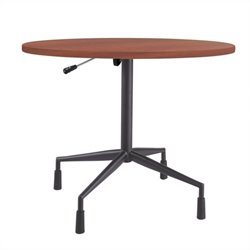 Safco RSVP 29.5 Pneumatic Base and 36x36x1 Top in Black and Cherry