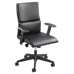 Mid Back Executive Office Chair in Black