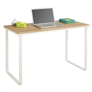 Safco Steel Workstation in Beech and White