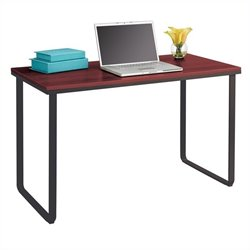 Safco Steel Workstation in Cherry and Black