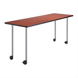 Safco Impromptu Fixed Leg Table Base in Silver