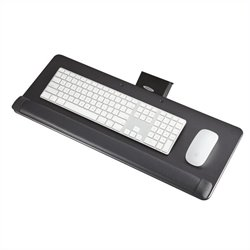 Safco Knob-Adjust Keyboard Platform in Black