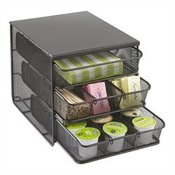 Safco Onyx 3 Drawer Hospitality Organizer in Black