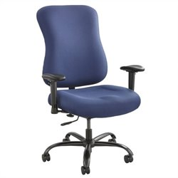 Safco Optimus 400lb Big and Tall Office Chair in Blue