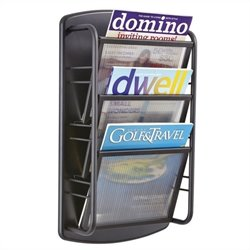 Magazine Rack 3 Pocket in Black