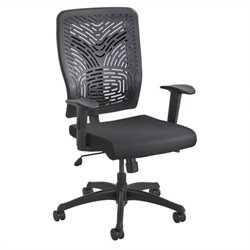 Safco Voice Series Task Chair Plastic Back in Black