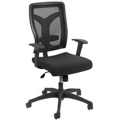 Safco Voice Series Task Chair Mesh Back in Black