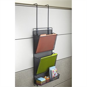 Safco Onyx Multifunction Panel Organizer in Black