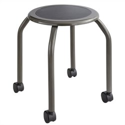 Safco Diesel Trolley Stool in Pewter
