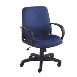 Safco Poise Blue Executive Mid-Back Office Chair