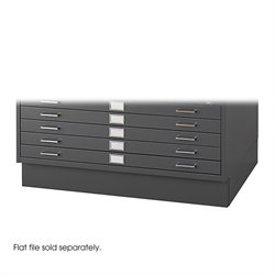 Safco Closed Low Base for 4986 and 4996 Flat File Cabinets in Black