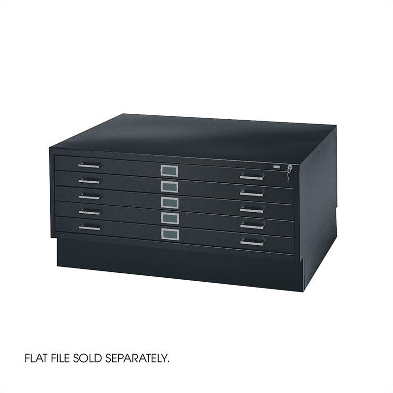 Closed Base for 4994 Flat File Cabinet in Black