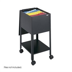 Safco Economy Mobile Letter Size Tub File in Black