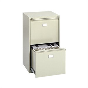 2 Drawer Vertical Metal File Cabinet in Tropic Sand