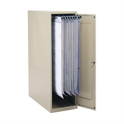 Safco Large Vertical 1 Drawer Metal File Cabinet for 18/24/30/36