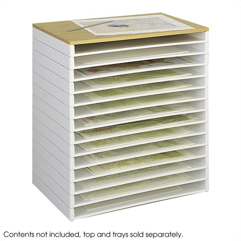 Safco Giant Stack Plastic File Tray for 30