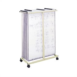 Mobile Vertical Metal File Stand in Tropic Sand