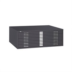 Safco 10 Drawer Metal Flat Files Cabinet for 30