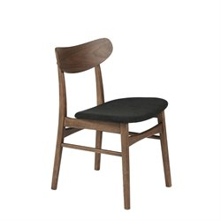 Eurostyle Fletcher Dining Chair in Dark Gray (Set of 2)