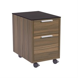 Eurostyle Hart 2 Drawer File Cabinet in Black