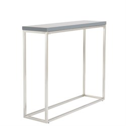 Eurostyle Teresa Console Table in Matte Gray