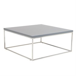 Eurostyle Teresa Square Coffee Table in Matte Gray