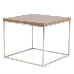 Eurostyle Teresa Square End Table in American Walnut