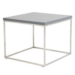 Eurostyle Teresa Square End Table in Matte Gray
