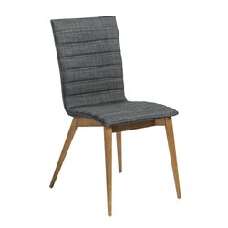 Eurostyle Yoland Dining Chair in Charcoal Fabric (Set of 2)