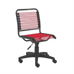 Eurostyle Bungie Low Back Office Chair in Red and Graphite Black