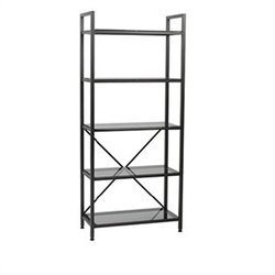 Eurostyle Maeko 5 Shelf Storage Unit in Graphite Black