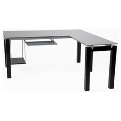 Eurostyle Ballard L-Shape Desk with Glass Top