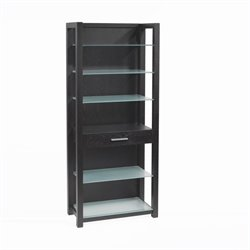 Eurostyle Ballard Shelving Frame in Wenge with Adjustable Glass Shelves