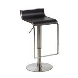 Eurostyle Foretta Adjustable Swivel Backless Bar Stool in Wenge