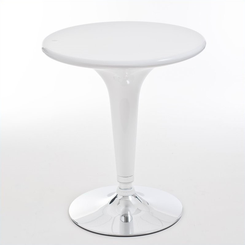Eurostyle Clark Adjustable Bar/Counter Table in White